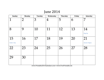 June 2014 Calendar free to download and print I've stopped buying calendars! These are great!