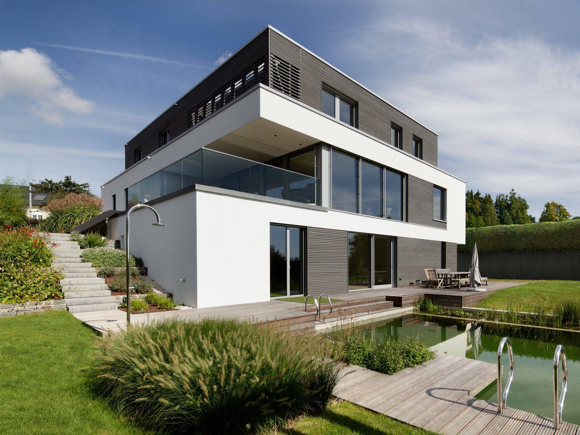 Passivhaus kieffer passivhaus haus minimalistisches for Minimalistisches haus grundriss