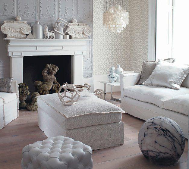 Texture provides interest with this white on white scheme