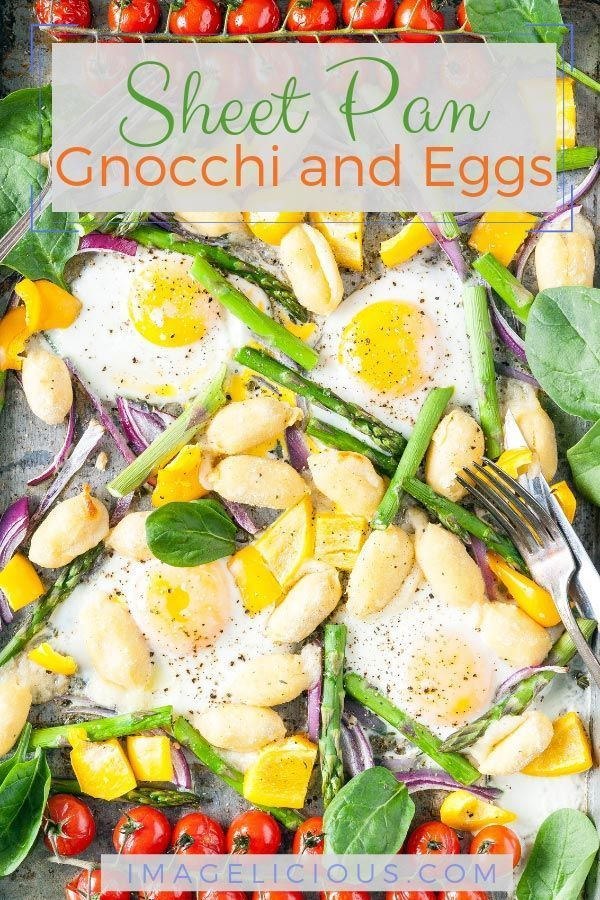 Photo of Sheet Pan Gnocchi and Eggs – Imagelicious.com