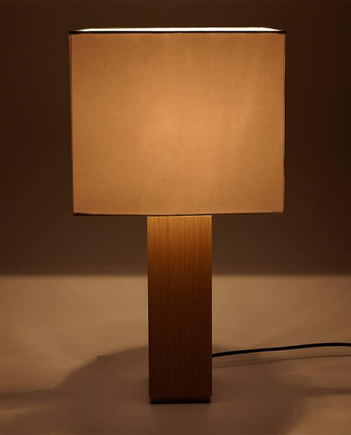 Wooden Lamp With Square Shade Wooden Lampshade Wooden Lamp Lamp