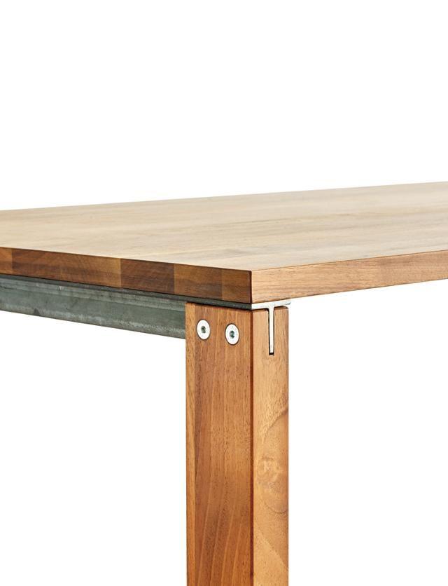Standardtisch massives Laubholz, doppelt geölt, 140 x 85 cm, Tischhöhe 74 cm