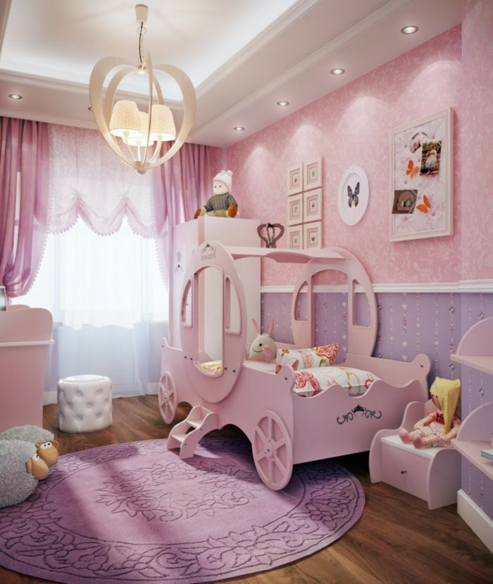 babyzimmer grau rosa gestaltungsideen kutsche im kinderzimmer treppe zimmer prinzessin. Black Bedroom Furniture Sets. Home Design Ideas