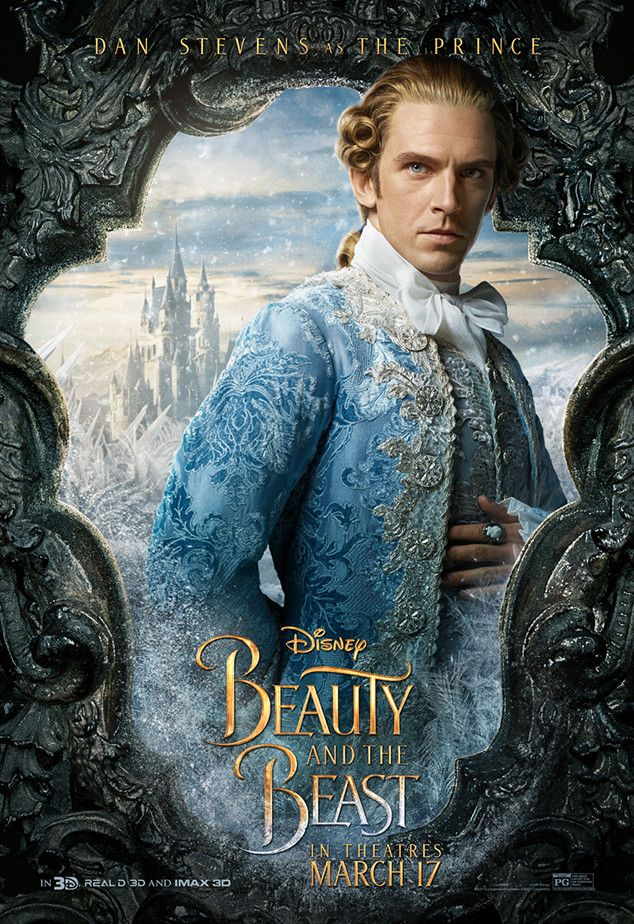 Dan Stevens From Beauty And The Beast Character Posters