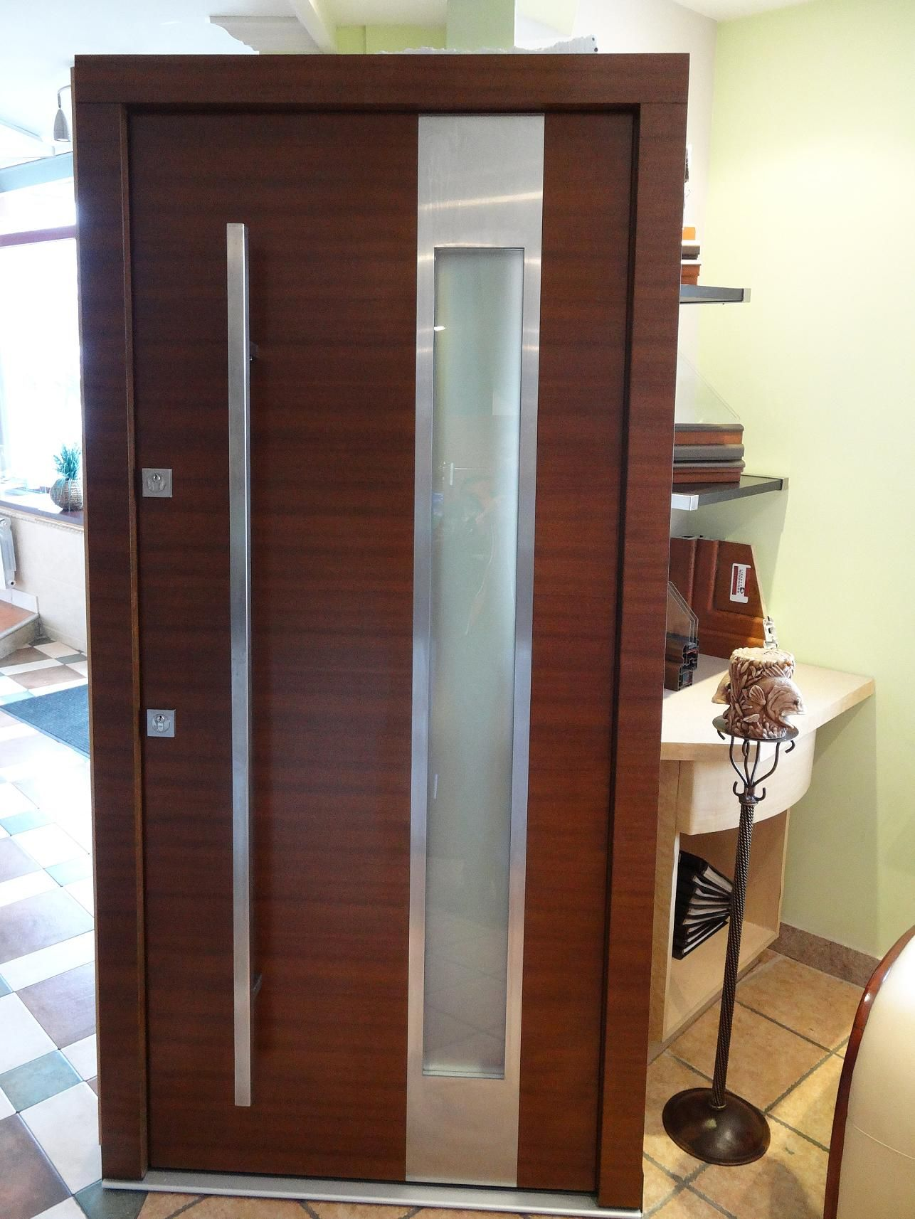 Model 001 Custom Meranti Wood Exterior Door | Contemporary Front ...
