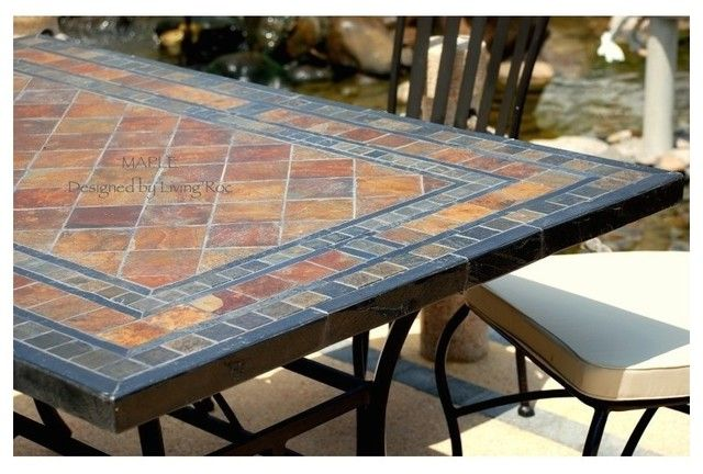 Slate Patio Table Patio Dining Table Slate Patio Square Patio