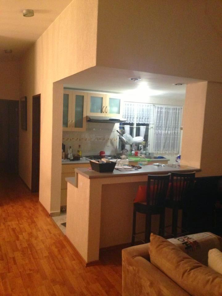 ideas para zonas de cocina abiertas al sal n decorar tu On cocinas americanas para casas pequeñas