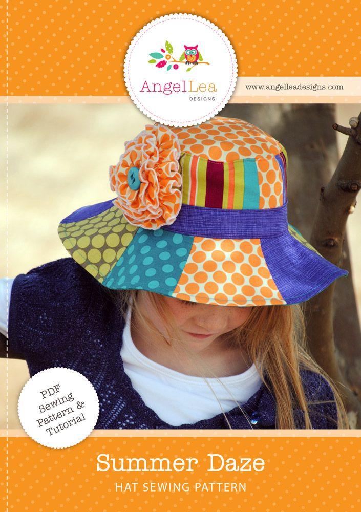 Summer Daze patchwork bucket hat sewing pattern by Angel Lea Designs ...