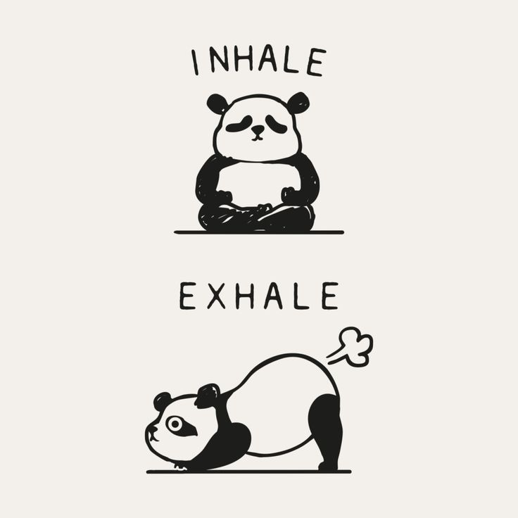 Inhale Exhale Panda | huebucket's Artist Shop #inhaleexhale