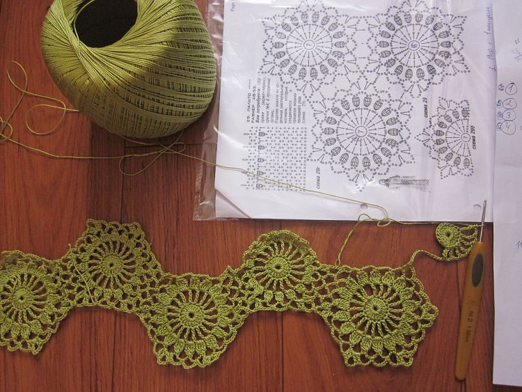 Master class on knitting unseparated chamomile motive. Talk to LiveInternet - Russian Service Online Diaries