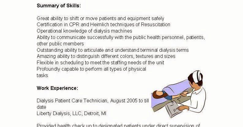 Resume for Dialysis Technician Best Of Resume Samples