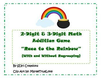 2-Digit & 3-Digit Addition Game: St. Patrick\'s Day Themed