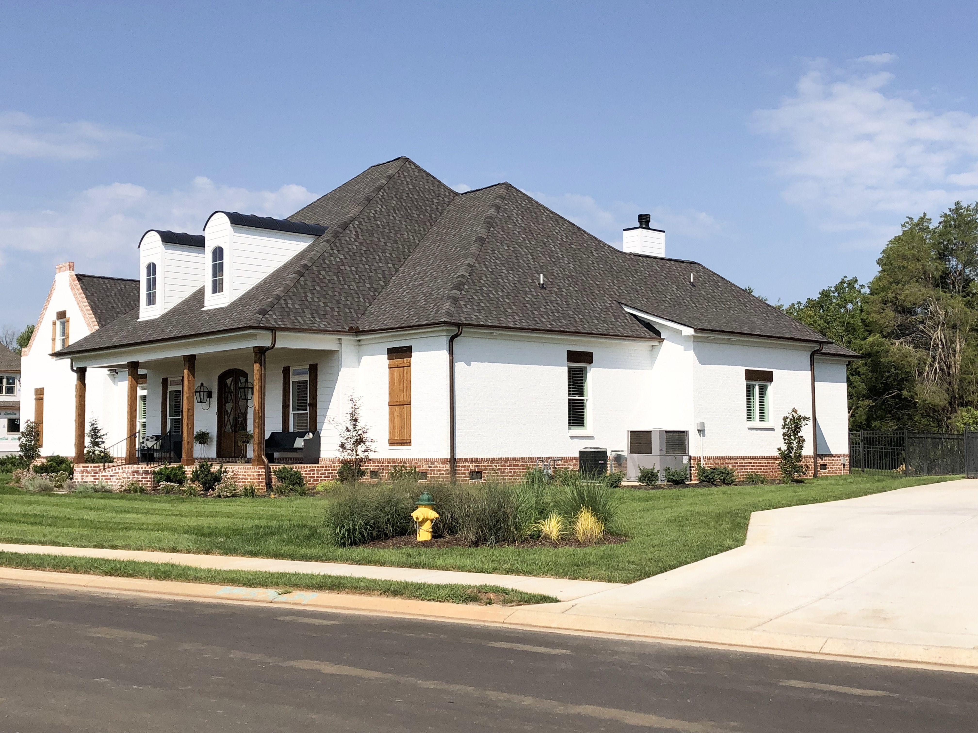 Painted White Brick House Painted White Brick House White Brick
