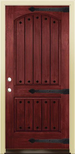 Superior Mastercraft® Prefinished Woodgrain Fiberglass Prehung Exterior Door At  Menards®: Mastercraft