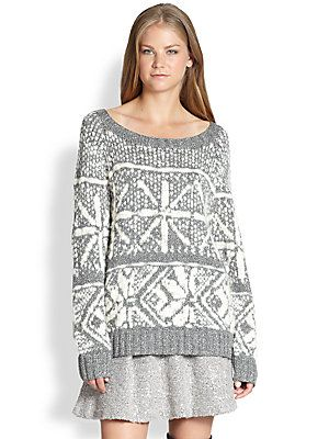 Alice + Olivia Lucille Fair Isle Snowflake Sweater | Fashion ...