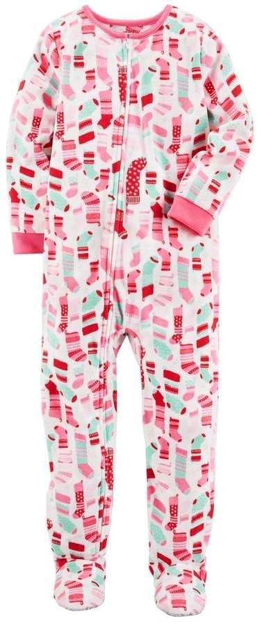 Christmas Footie Pajamas For Kids.Girls 4 14 Carter S Christmas Footed Pajamas Products
