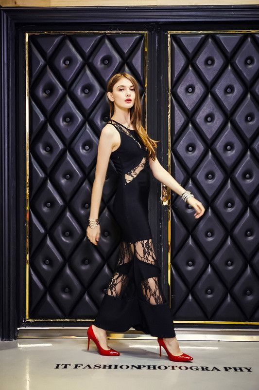 New Arrival Women Sexy Black Maxi Long Lace Bandage Dresses for Wedding Party