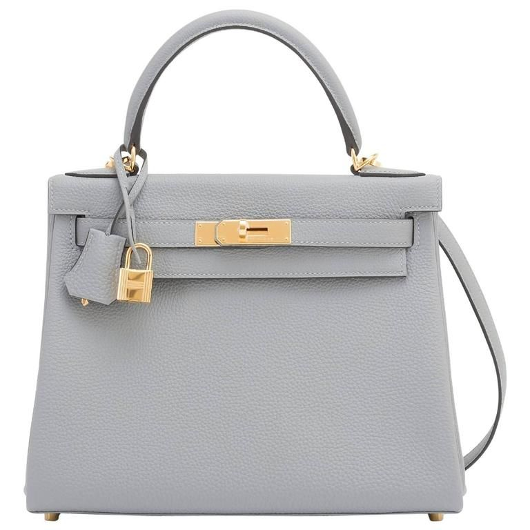 b2431c0755b ... spain hermes gris mouette 28cm kelly bag togo grey gold hardware  1stdibs 32660 562c3