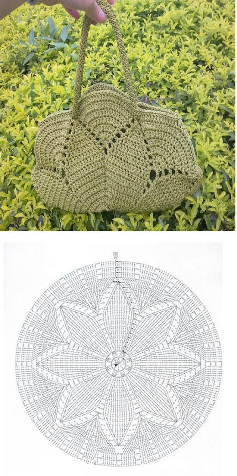 Patron Crochet Bolso con Circulo - Patrones Crochet | bolsos ...