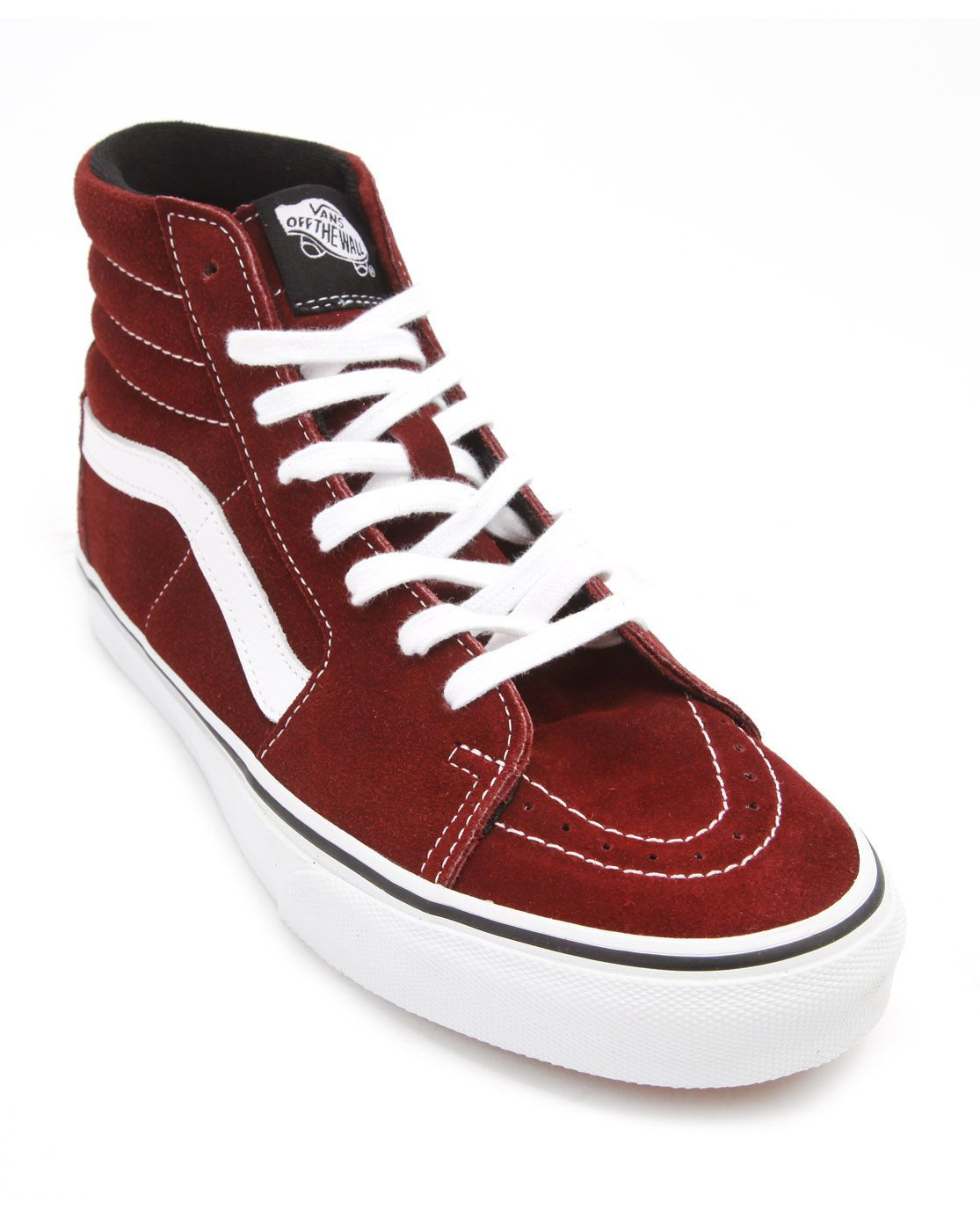 43c892a74e Vans Sk8 Hi Burgundy Suede Sneakers in Red for Men (burgundy)