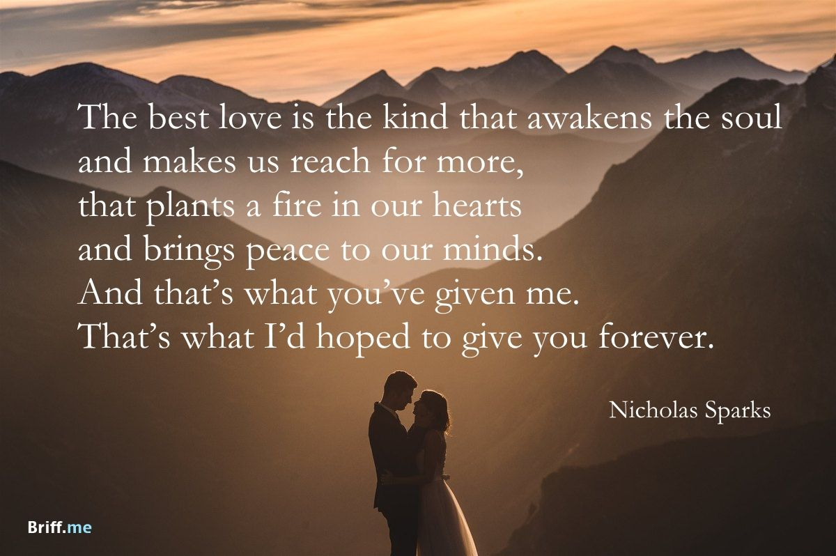 Image of: Short Best Wedding Quotes Love Forever By Nicholas Sparks Pinterest Best Wedding Quotes Love Forever By Nicholas Sparks Wedding