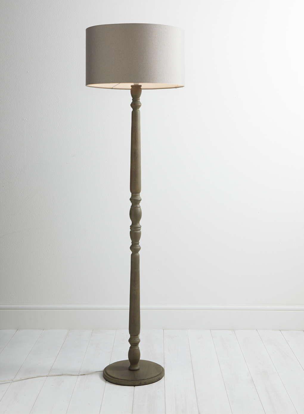 Wood aspen floor lamp bhs