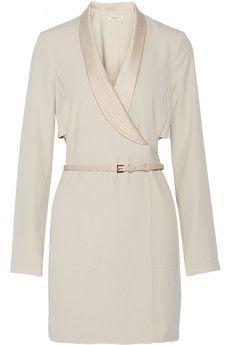 Halston Heritage Wrap twill mini dress | NET-A-PORTER