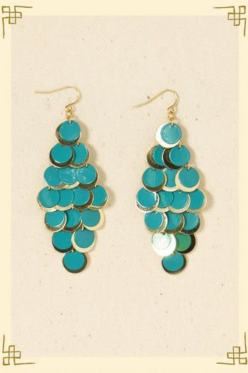 """I keep thinking of Home Alone, when Catherine O'Hara is trying to buy the older couple's plane ticket and the husband says, """"She has a whole shoebox full of earrings at home. Dangly ones."""" These are dangly earrings."""