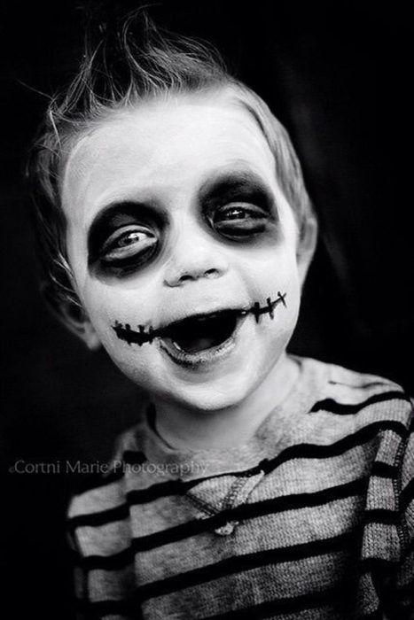 de 115 FOTOS de MAQUILLAJE HALLOWEEN para NIÑOS 2018 Maquillaje - maquillaje de halloween para nios