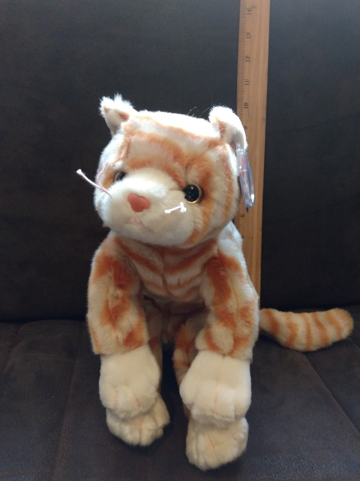 Retired 19207  Ty Beanie Buddy - Amber The Gold Tabby Cat (10 Inch) - Mwmts  Stuffed Animal Toy -  BUY IT NOW ONLY   14.99 on  eBay  retired  beanie   buddy ... 19a913f466fa