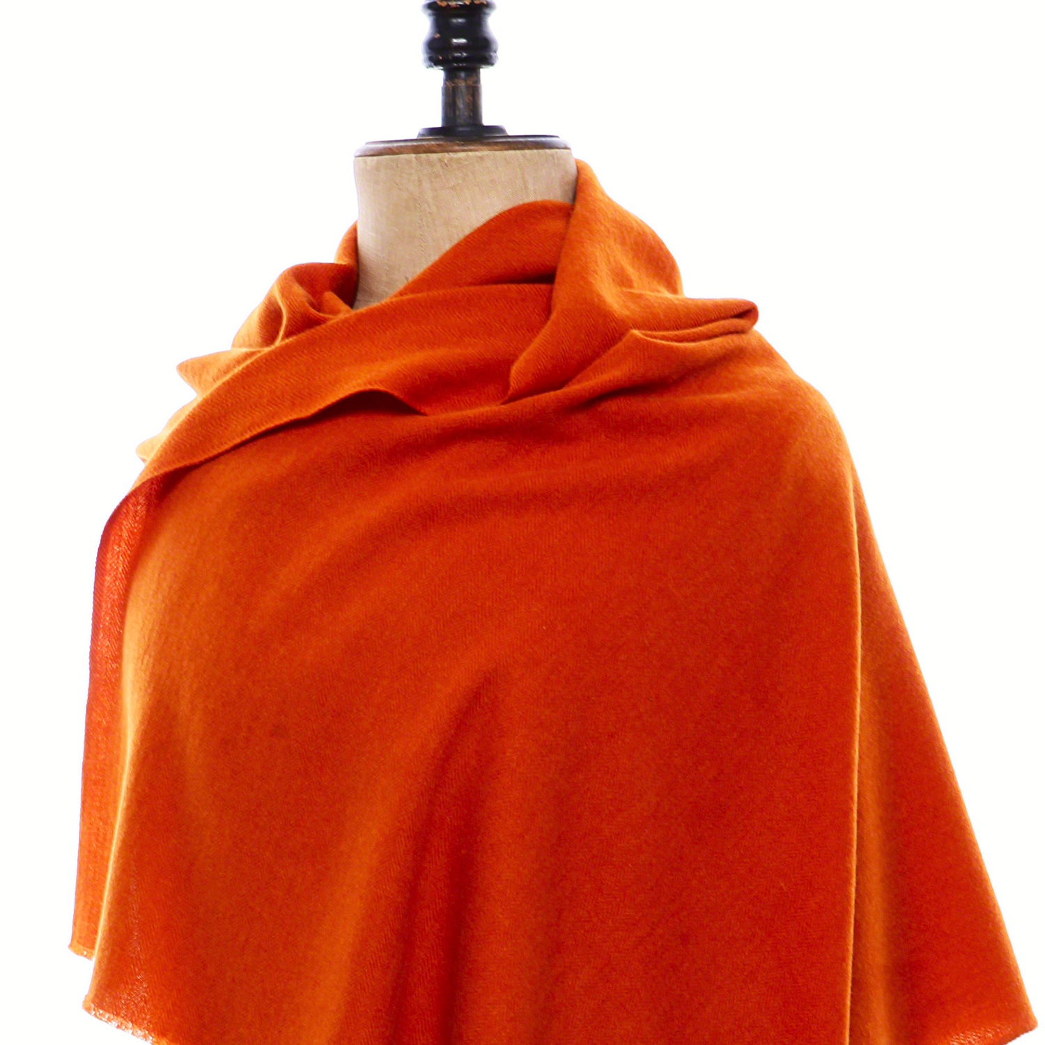 Click to customize your own ethical and renewable Himalayan real Pashmina Shawl to accent your wardrobe perfectly. Cashmere Shawl shown here in Burnt Orange color with Herringbone weave. https://pashm.com/shop/himalayan-cashmere-shawl/