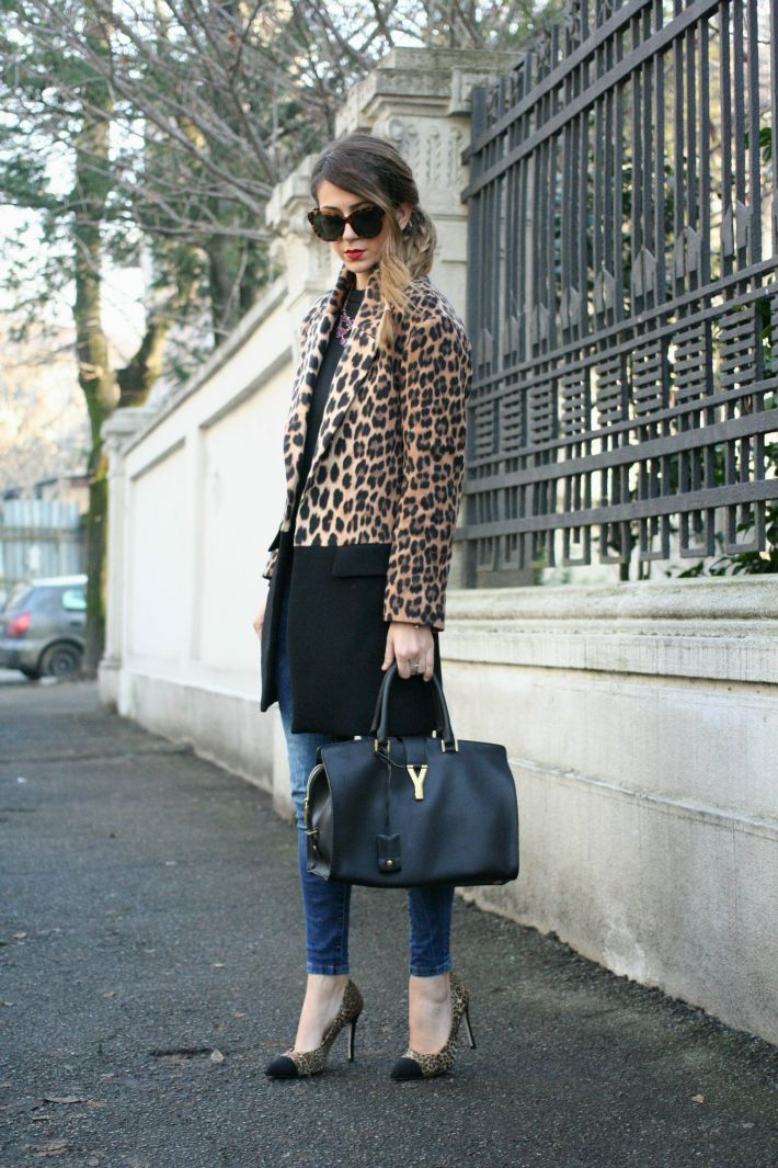 fashion blogger outfit animalier