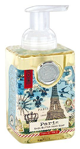 Elegant, Scent Of Lavender, Paris Themed Foaming Hand Soap Dispenser
