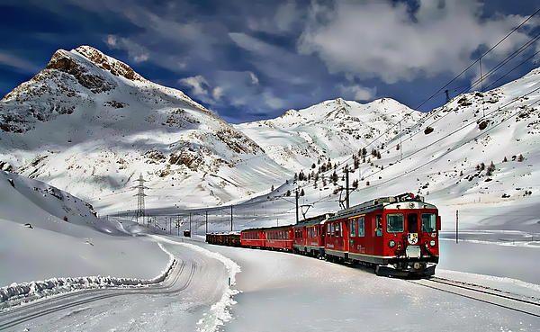 Winter Train Travel By Anthony Dezenzio Com Imagens Viagens