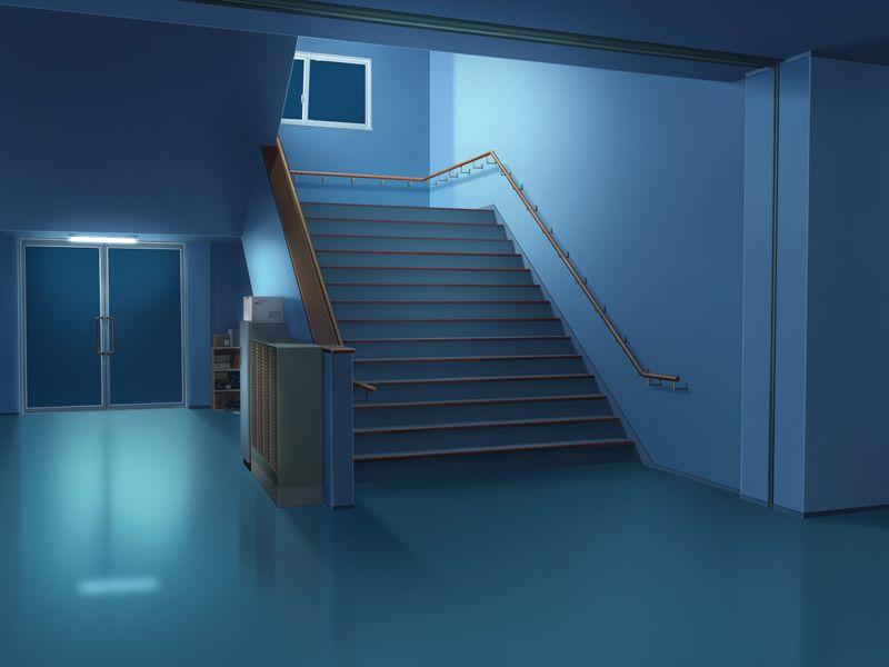 フリー素材 フリー素材 背景 学校階段 1階 2階以上 彩 雅介の