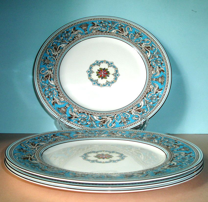 Wedgwood FLORENTINE Turquoise 4 PC. Dinner Plate Made in ...