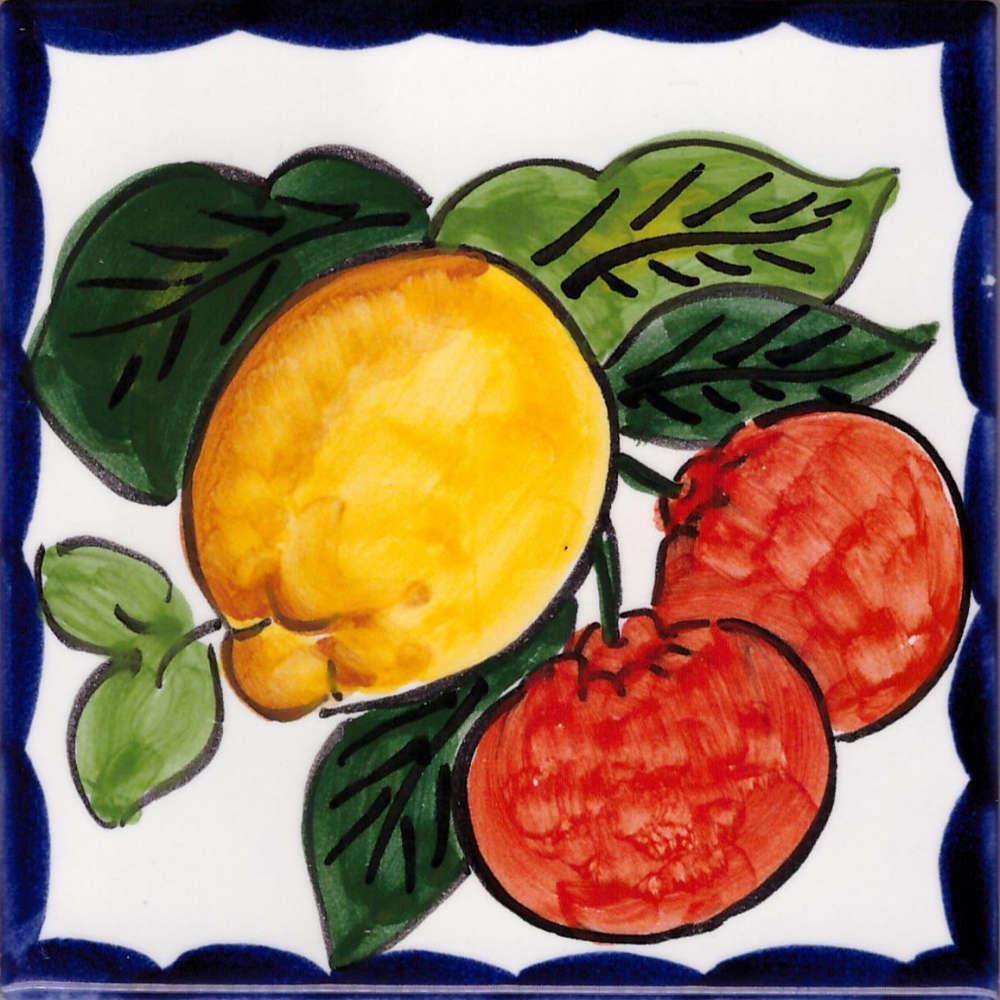 Piastrelle Cucina Con Fiori mattonella vietrese - piastrella vietri frutta e fiori 37