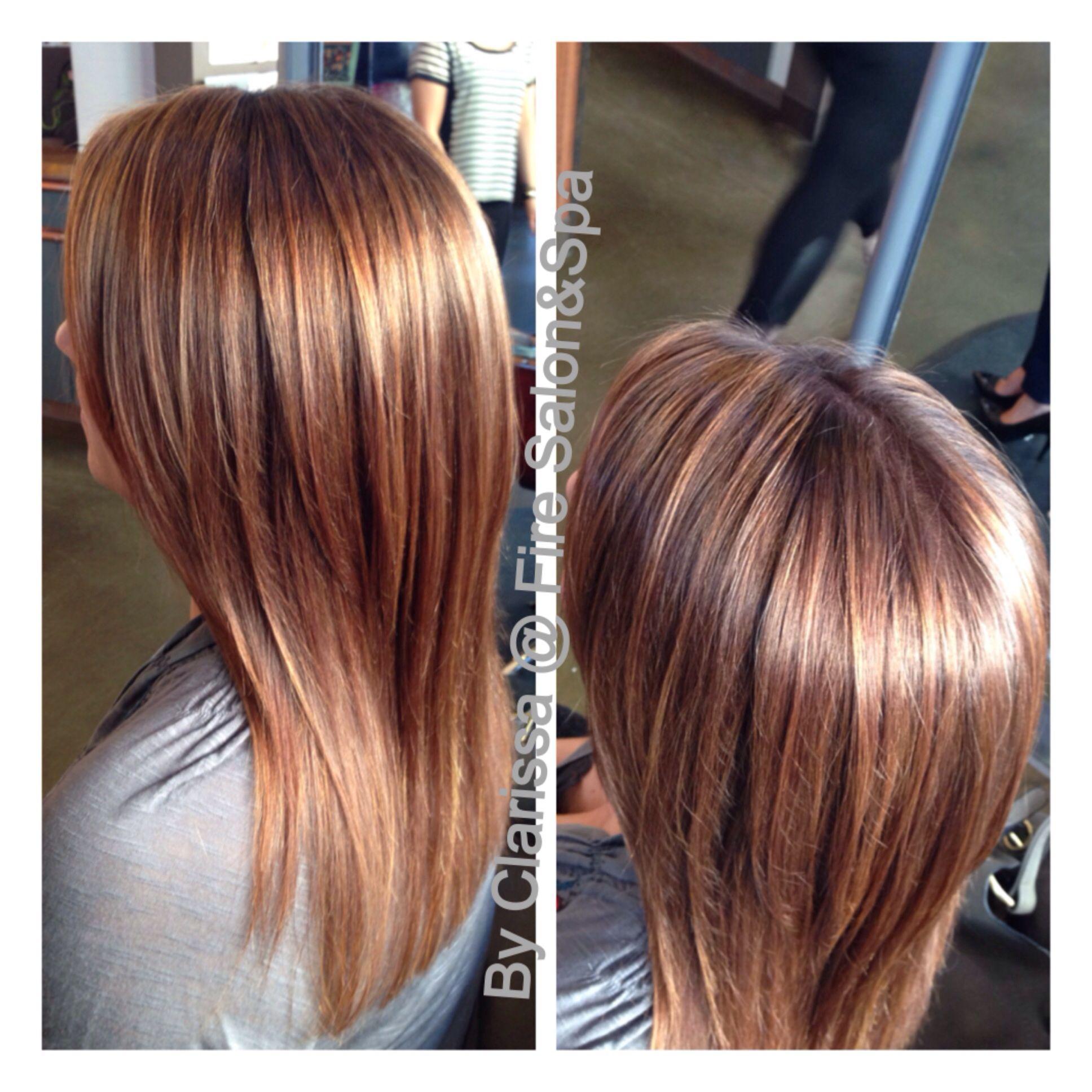 Hair By Clarissa Whitmire Chestnut Brown Hair With Golden Blonde