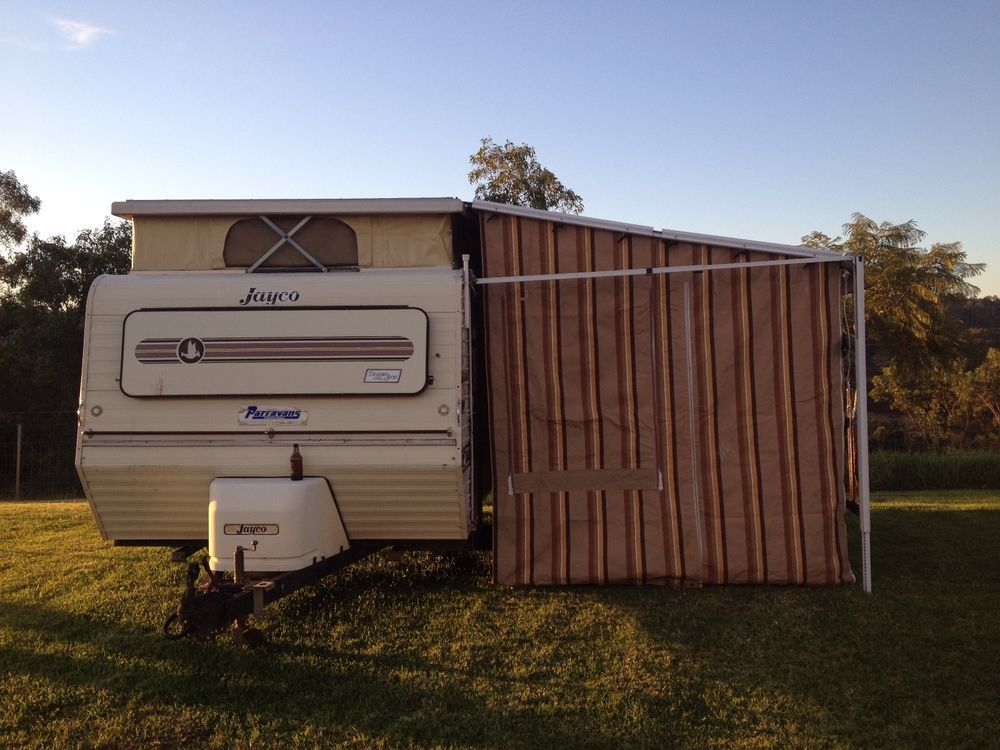 JAYCO 1987 SWAN POP TOP CARAVAN WITH FULL ANNEX 15FT 12 MTHS NSW
