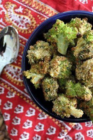Crispy Curry Roasted Broccoflower Broccoli Cauliflower