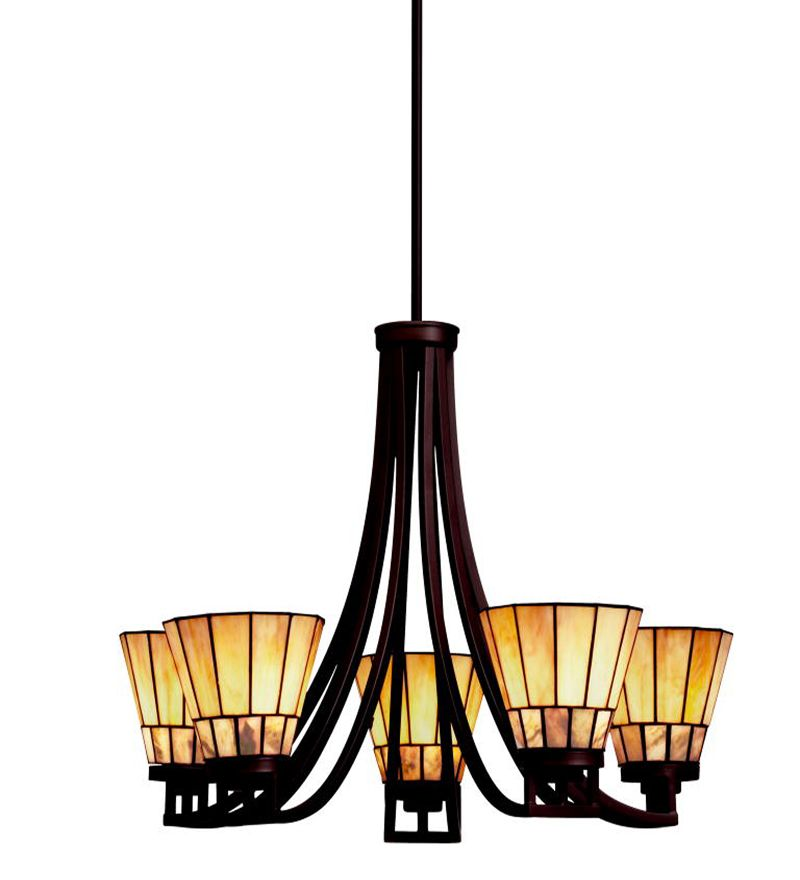 Morton Arts Crafts Style Chandelier Dining Room
