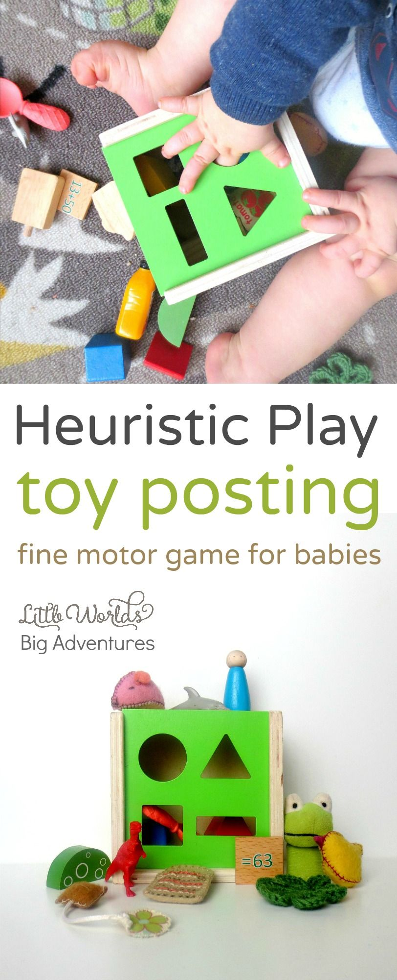 Heuristic Play Toy Posting, a Fine Motor Game for Babies | Little Worlds, Big Adventures