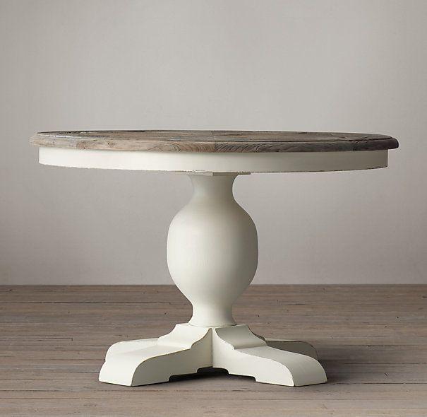 Mesa comedor redonda blanca madera comedor pinterest - Mesas salon redondas ...