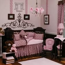 I love this room! Paris theme toddler girls bedroom. Change the pink to purple and its perfect!