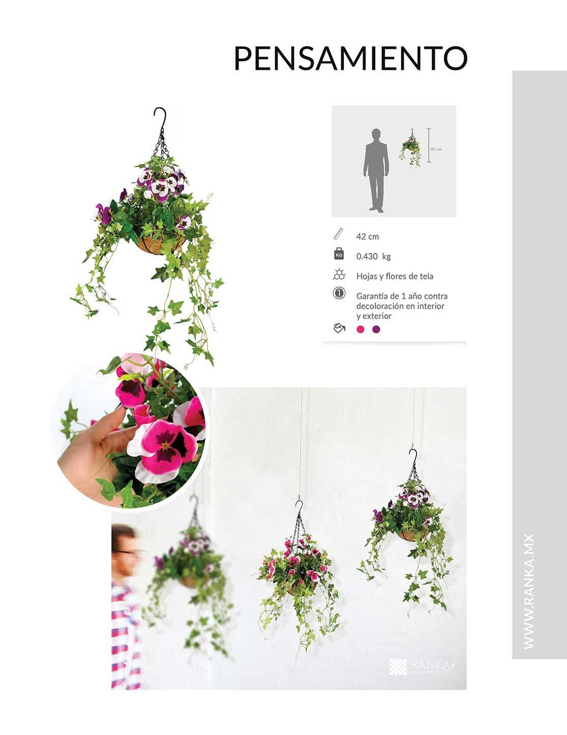 Catalogo ranka follaje artificial enredaderas for Plantas decorativas artificiales df