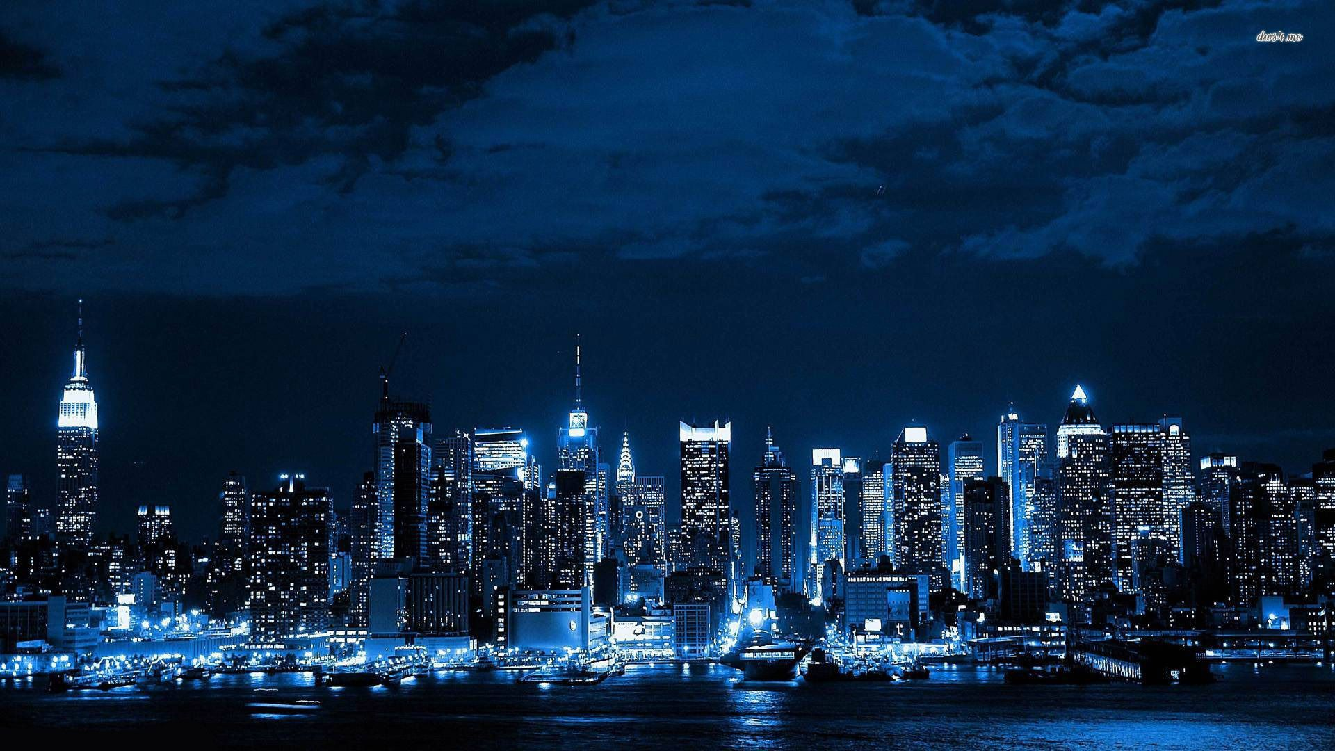 New York City At Night Hd Images Wallpaper Skyline New York