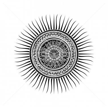 Stock Vector Mayan Sun Symbol Radiant You Cosmetics Mood Board