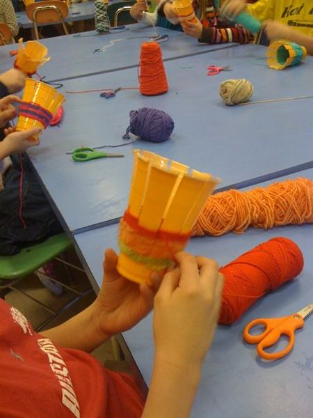 3rd/4th/5th/6th: cup weaving | Kids craft ideas | Art