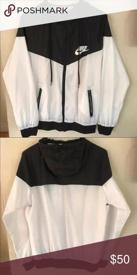 726fb28c25 Nike Women s Windbreaker Jacket Brand new nike windbreaker jacket in the  color black and white. tag says large but it fits a small-medium.