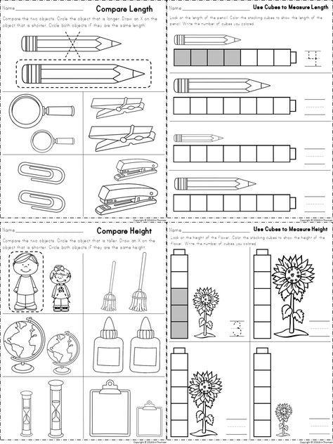 Kindergarten Math Measurement Kindergarten Math Worksheets And